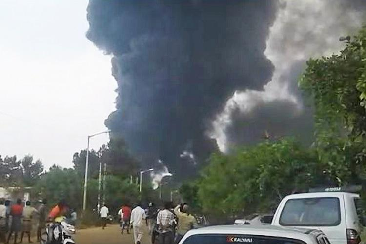 Massive fire in chemical factory in Kolar no casualties reported