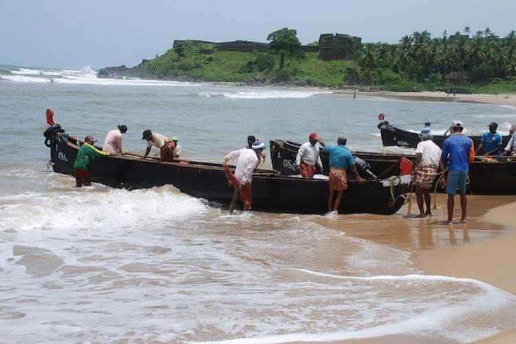 Boats preparing to leave for fishing in sea