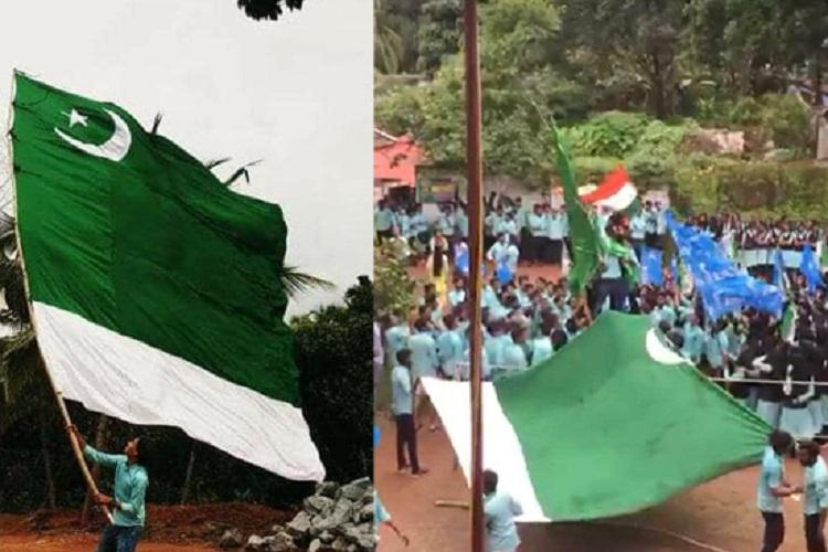 Kerala students wave MSF flag in college reports wrongly call it Pakistani flag