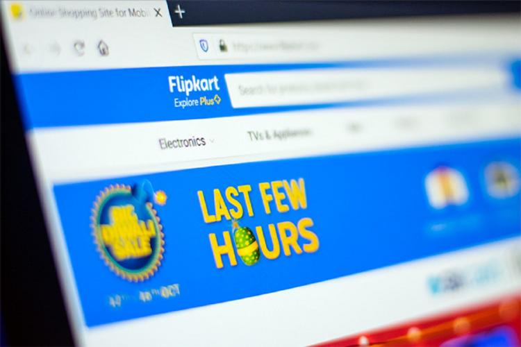 The website of Flipkart
