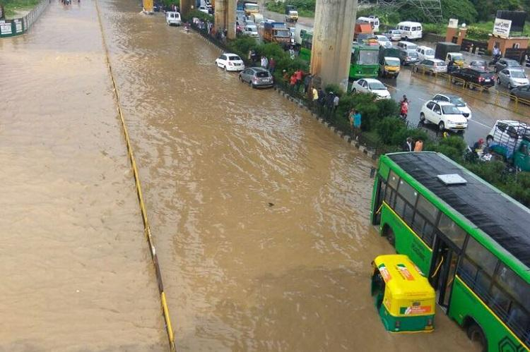 In pictures Roads turn into rivers after rains lash Bengaluru on successive days