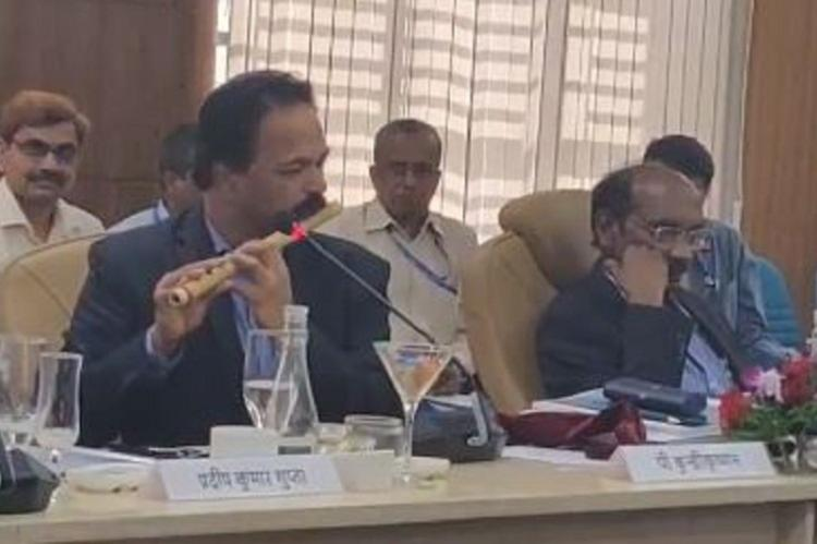 ISRO scientist plays flute at Parliamentary panel meet in Bengaluru video goes viral