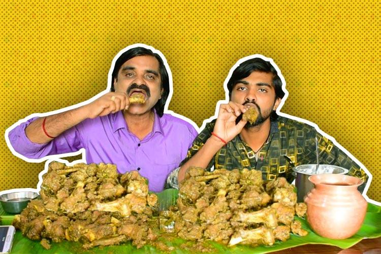 Mounds of biriyani in one go 4 kg of jackfruit in 7 mins World of online food challenges
