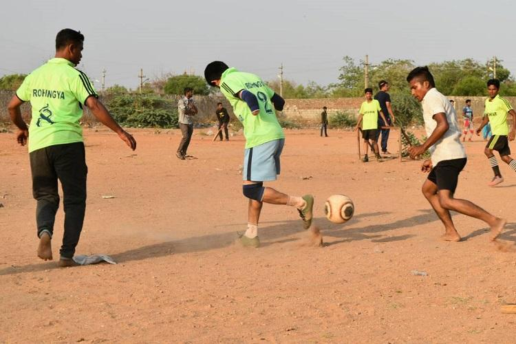 A field of their own How football is helping Rohingya refugees find their place in India