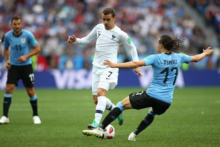 World Cup France ease past Uruguay 2-0 to book semis berth