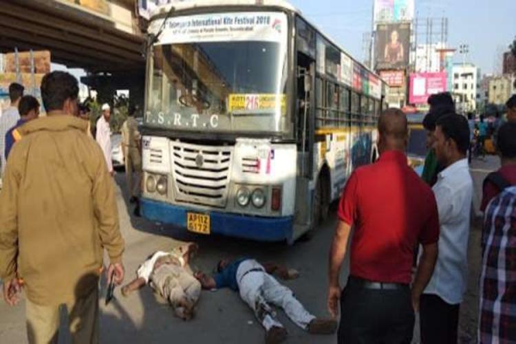 3 die after being run over by state-run bus in Hyderabads Gachibowli
