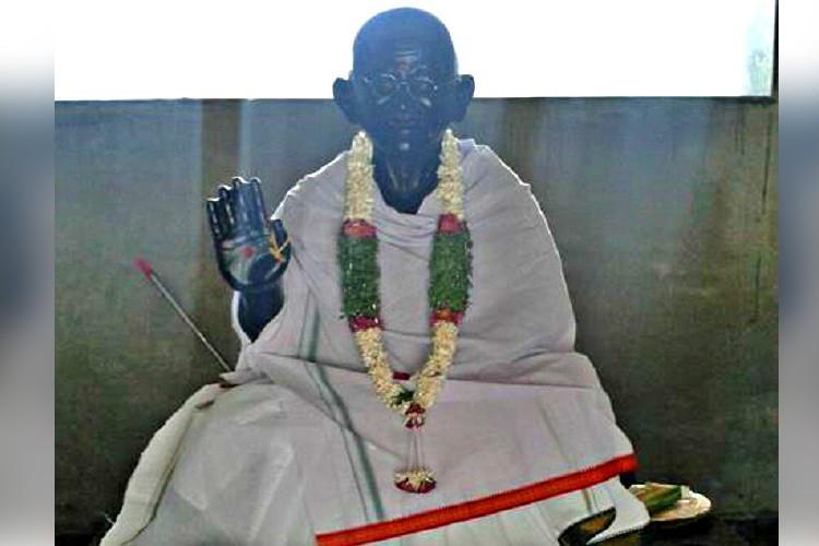 A temple for the Mahatma This Telangana village has a God Gandhi