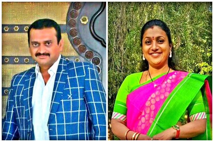 MLA Roja vs producer Ganesh Slug fest loaded with sexual innuendo plays out on TV