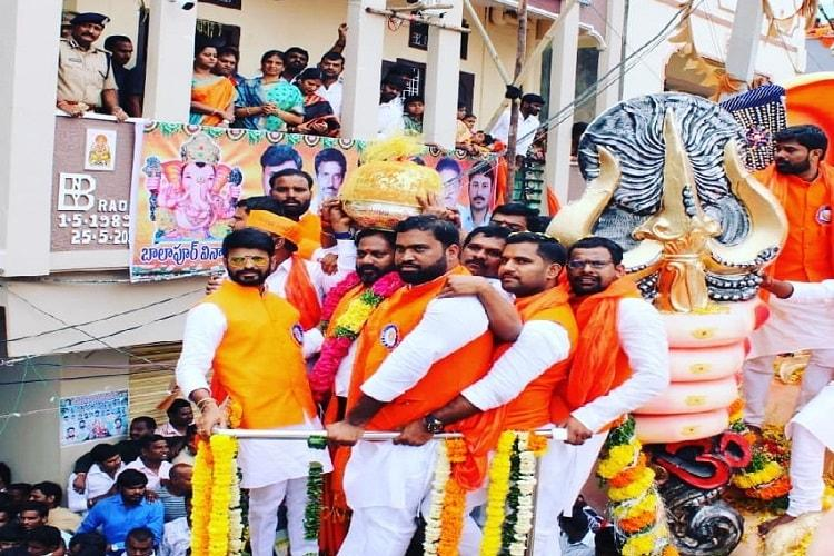 Hyderabads Balapur Ganesh laddu auctioned for Rs 176 lakh