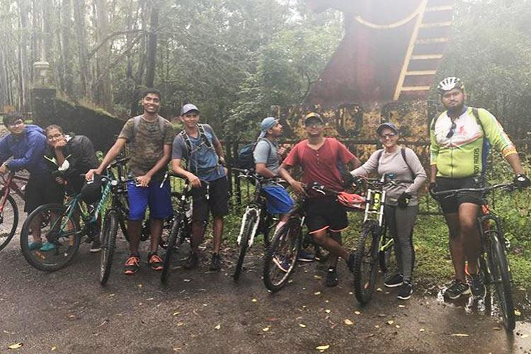 An adventure programme in Manipal Uni combines cycling with outdoor education