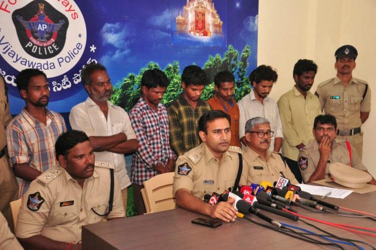 Vijayawada police arrest 7 ganja smugglers seize 90kgs of cannabis