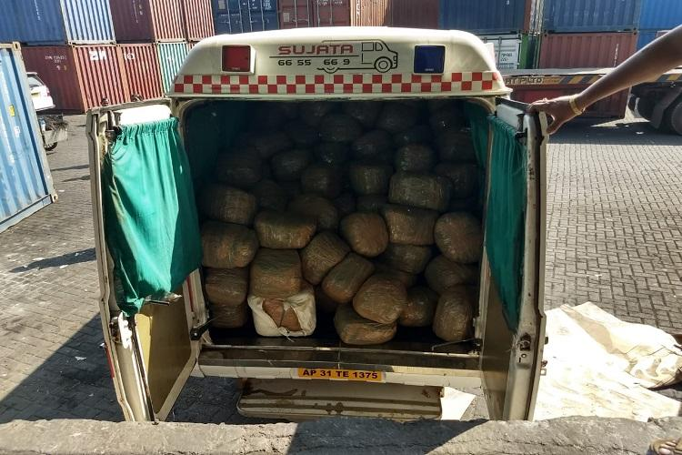 Ambulance carrying Rs 27 crore worth ganja intercepted in Andhra