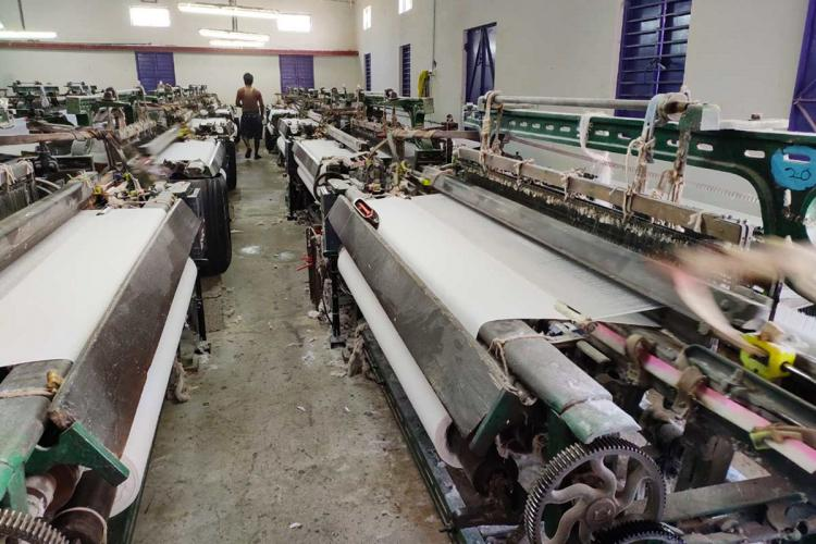 Workers at a garment factory