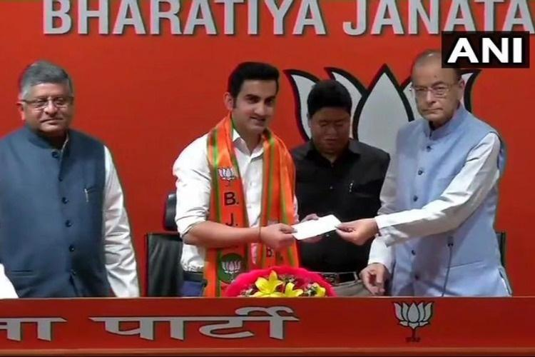 Former cricketer Gautam Gambhir joins BJP
