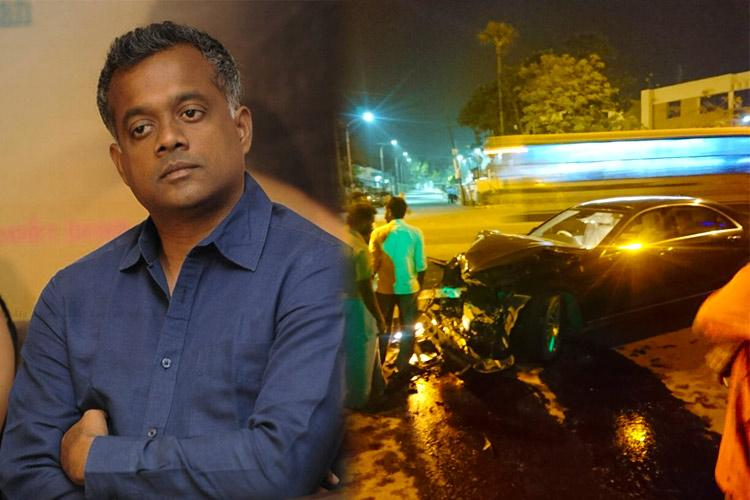 Gautham Menon injured in a auto accident in Chennai