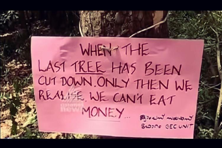 Kerala college decides to axe trees to construct building faces student opposition