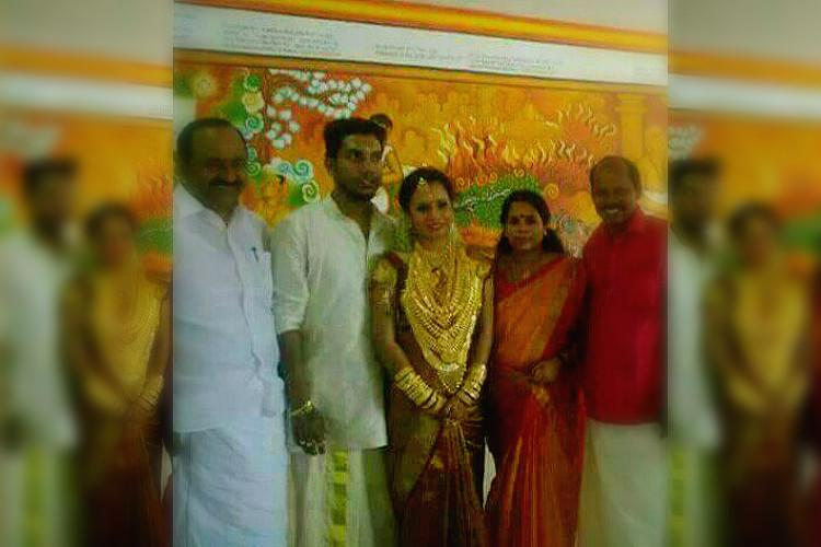 Images of CPI MLAs daughter decked up in gold for wedding go viral leader faces partys ire