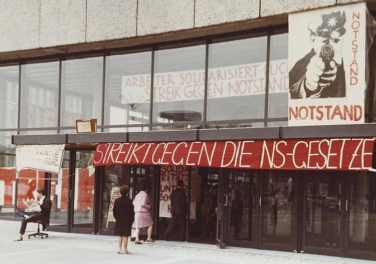 Organising a student protest Have a look at 1970s Germany