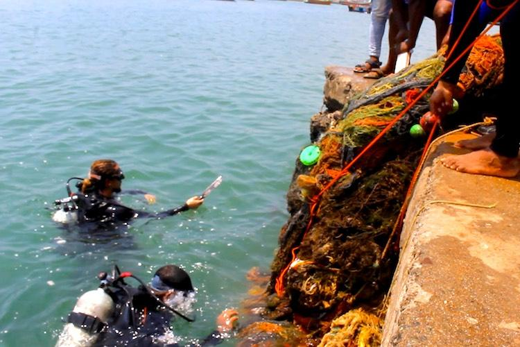 400 kg of ghost nets removed from the Kerala seabed in just 90 minutes