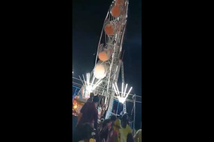 Car of giant wheel comes crashing down in Andhra 10-year-old girl killed