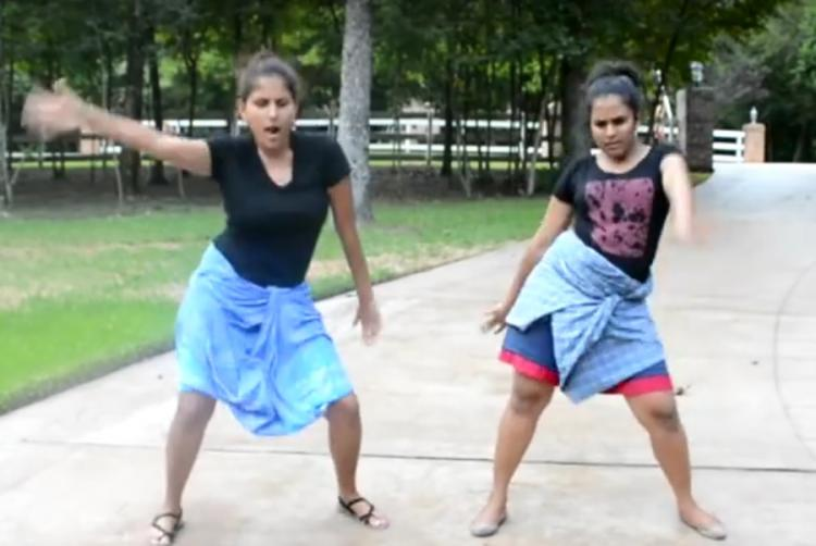 Watch Bat sht crazy lungi-wearing girls shake it up to Tamil dappankoothu in US