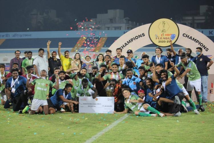 Gokulam Kerala FC after winning I league
