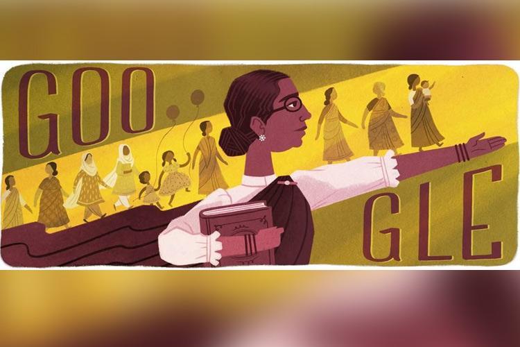 Google Doodle honours Adyar Cancer Institute founder Dr Muthulakshmi Reddi