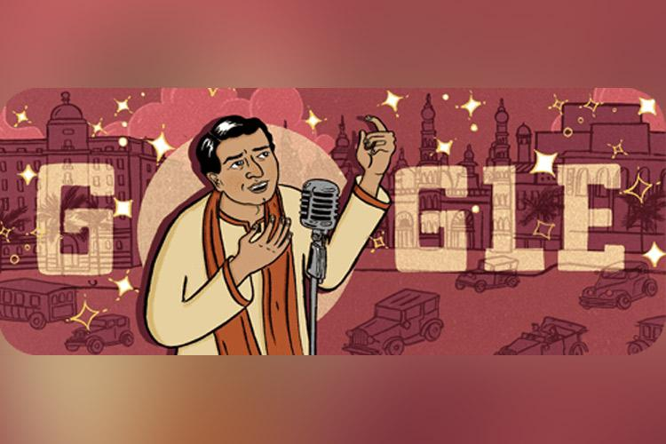 Google Doodle honours KL Saigal Indias first superstar on his birth anniversary