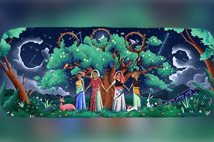 Google Doodle salutes 45th anniversary of Chipko Movement