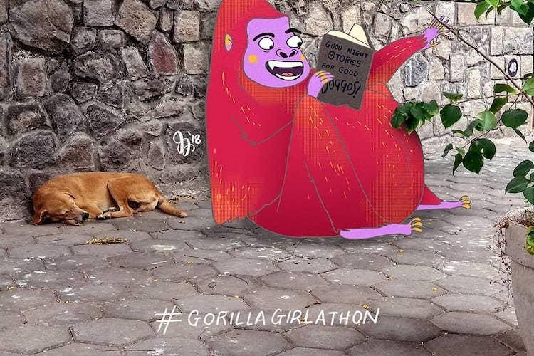 Meet the goofy animated gorilla thats turning up at all kinds of places in Chennai