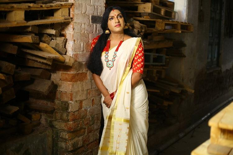 Gender has many colours but kasavu has one Kerala brand has trans model in sari ad