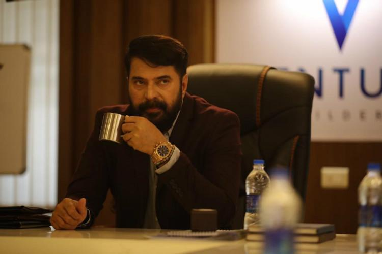 Shots from Mammoottys upcoming film The Great Father leaked