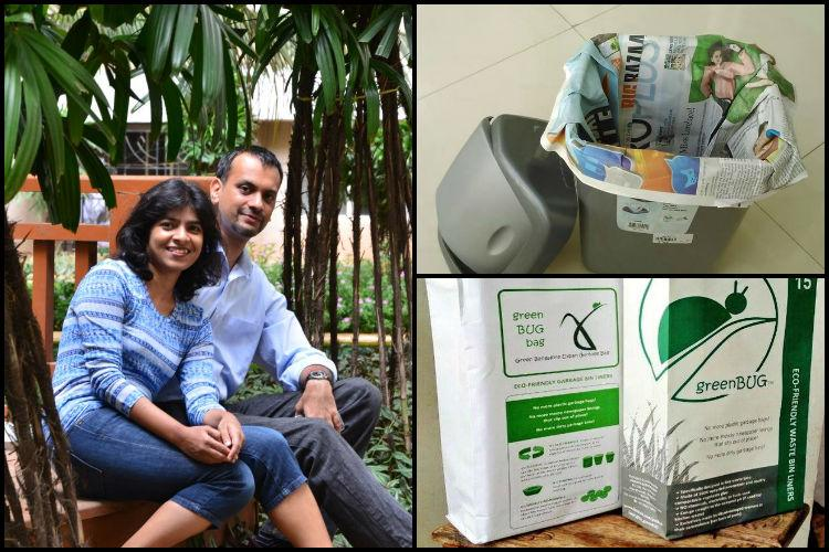 Bengaluru couple provides eco-friendly alternative to plastic garbage bags