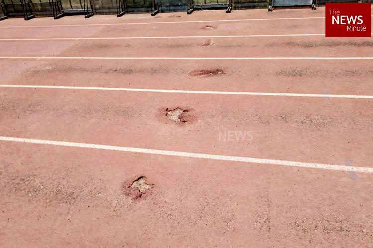 With no maintenance potholes develop on Bengaluru Kanteerava Stadium athletic track