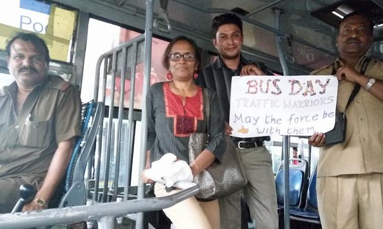 Bengaluru observes Bus Day Thanks drivers conductors for their service to the city