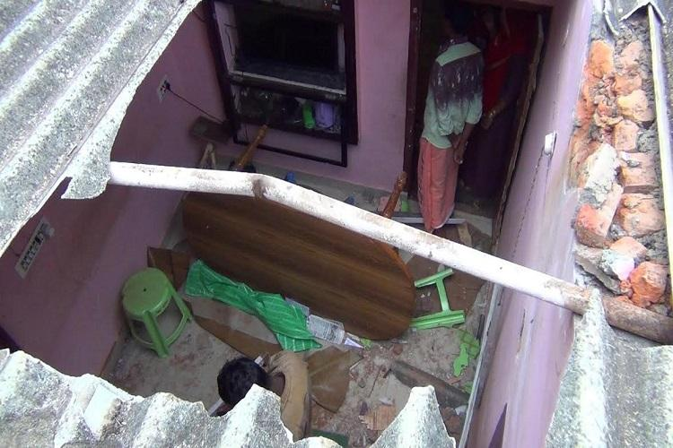 Baby elephant comes crashing through roof inside house in TN no injuries reported