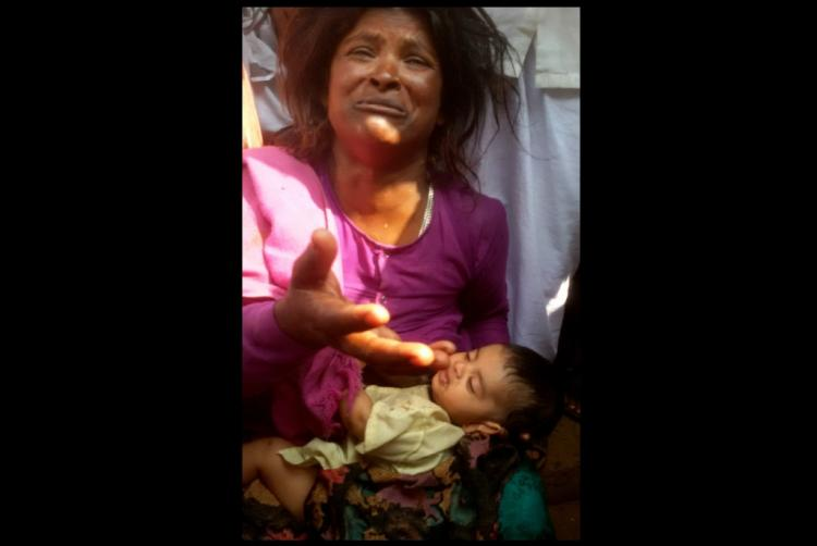 What happened when a gypsy woman was seen on the street with a pretty looking infant