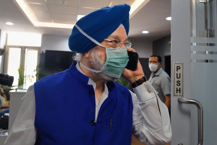 Civil Aviation Minister Hardeep Puri
