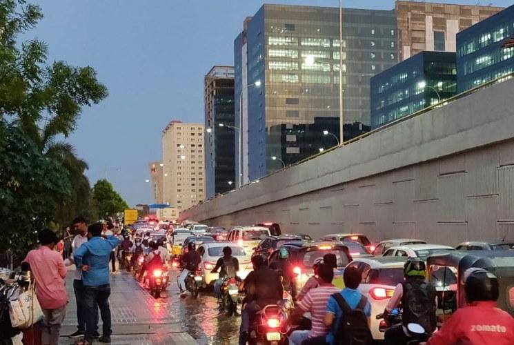 To beat heavy traffic during rains Hyderabad IT company heads form three-tier plan