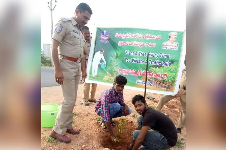 Plant a tree if you violate a traffic rule cops of this Telangana district tell citizens