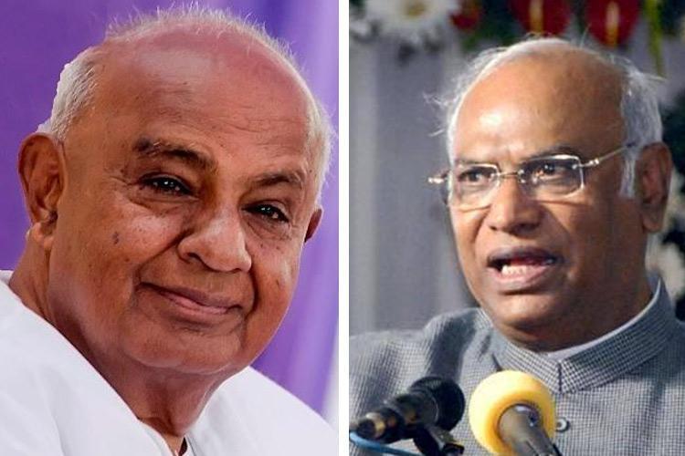 Mallikarjun Kharge HD Deve Gowda raise Operation Kamala in Parliament