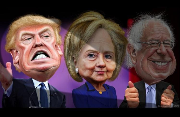 Presidential elections in America A Hillary a Trump and a rump