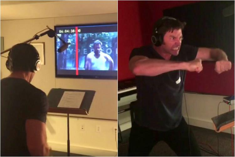 This video of Hugh Jackman recording for Logan is as intense as it gets