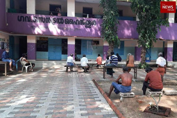 a relief camp for homeless by thiruvananthapuram corporation