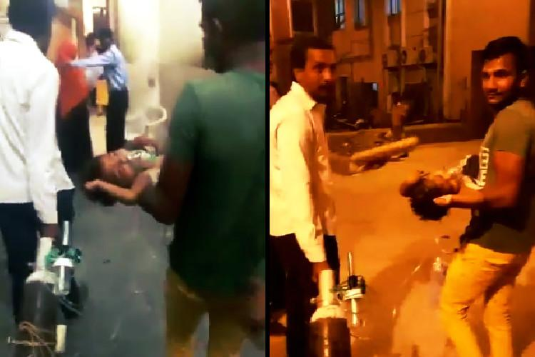 Video Child carried around with oxygen support in Hyd hospital after stretcher allegedly denied