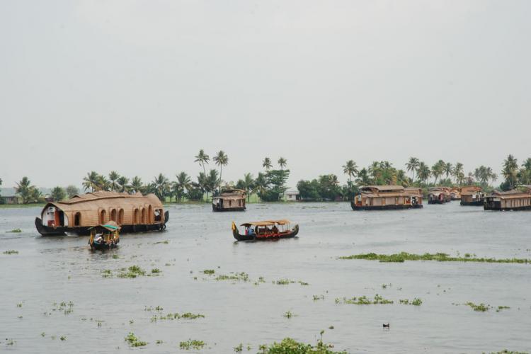 Houseboats in Alleppey Kerala