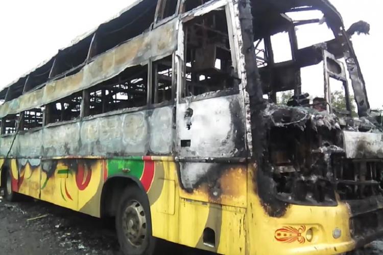 Three burn to death 9 injured as Bengaluru-Dharwad bus catches fire near Hubballi