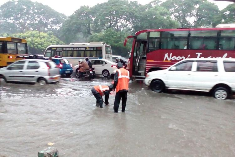 In pictures How Hyderabad was paralysed by heavy rains