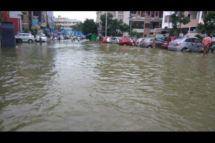 Heavy rains batter parts of Hyderabad massive flooding in some areas