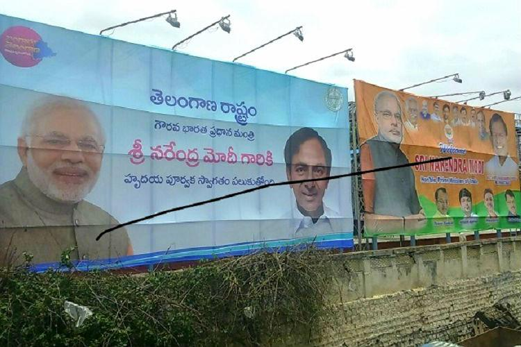 Modi-KCR Friendship Day bonhomie spills over Hyderabad as Naidu simmers over Special Status